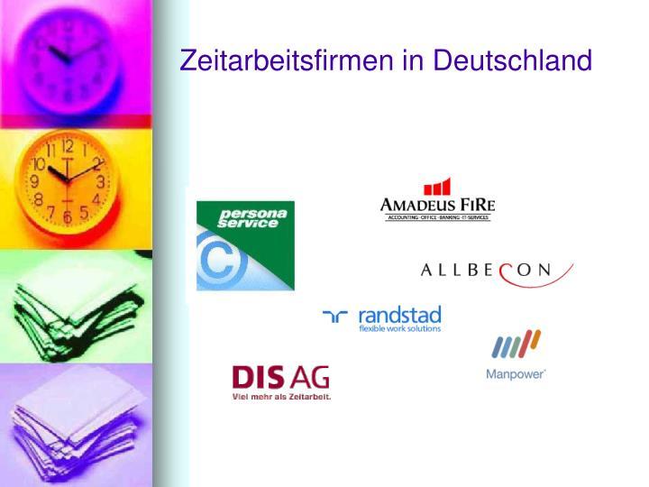 Zeitarbeitsfirmen in Deutschland