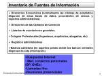 inventario de fuentes de informaci n
