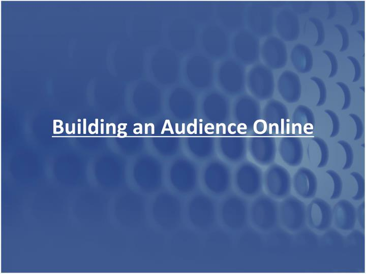 Building an Audience Online