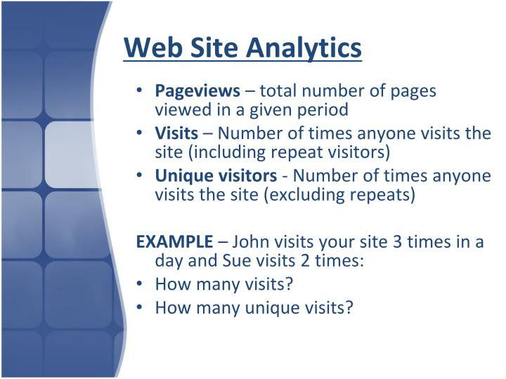Web Site Analytics