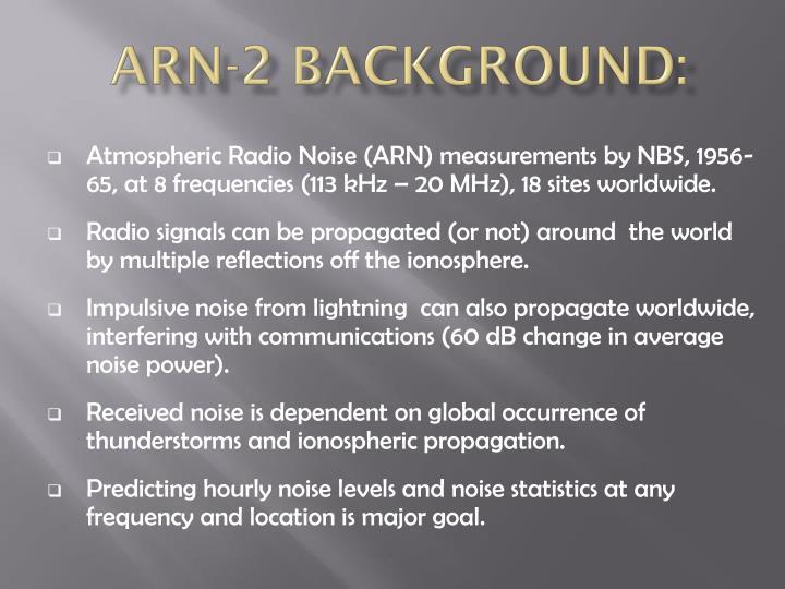 ARN-2 Background: