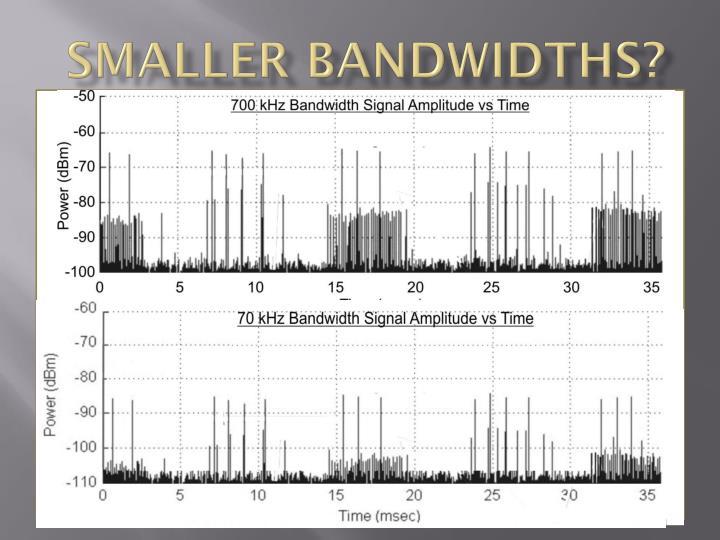Smaller Bandwidths?