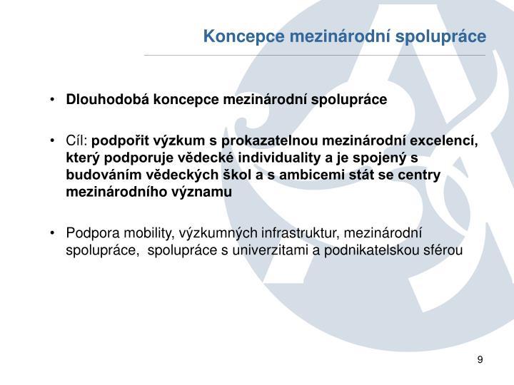 Koncepce mezinárodní spolupráce