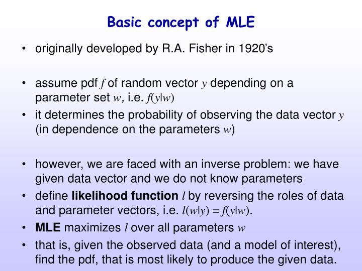 Basic concept of MLE