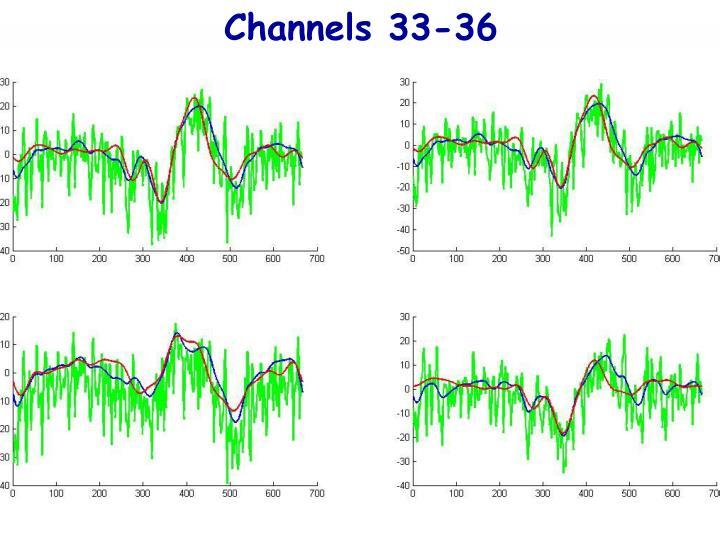 Channels 33-36