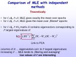 comparison of mle with independent methods1