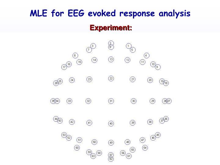 MLE for EEG evoked response analysis