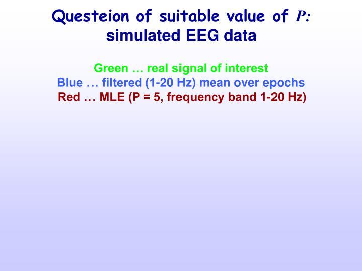 Questeion of suitable value of