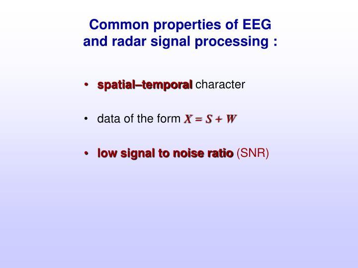 Common properties of EEG