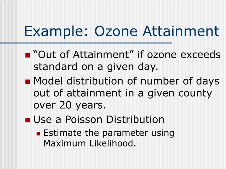 Example: Ozone Attainment