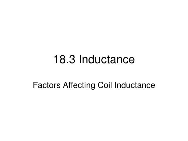 18.3 Inductance
