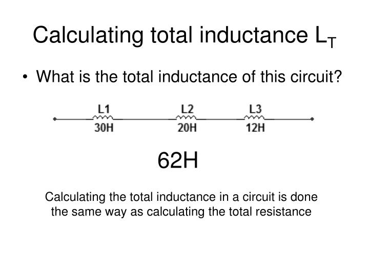 Calculating total inductance L