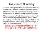 inductance summary
