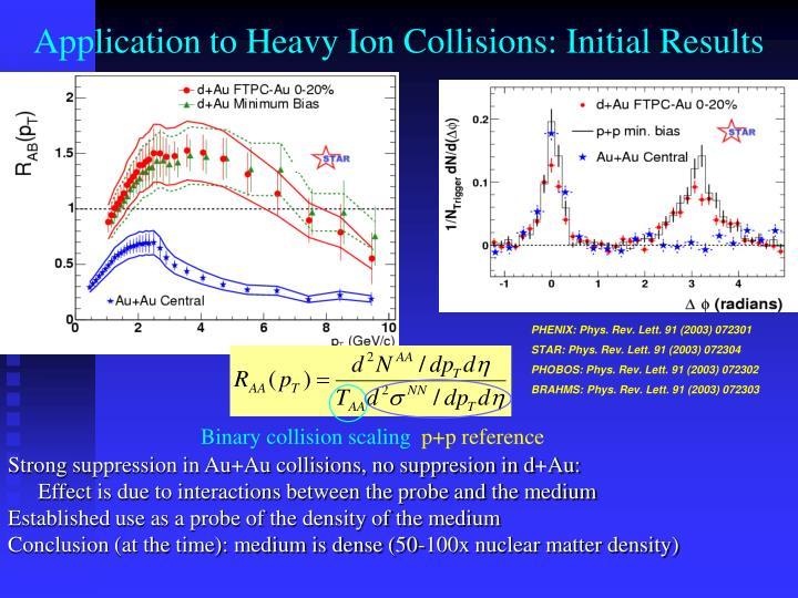 Binary collision scaling