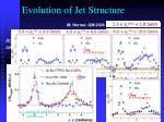 evolution of jet structure