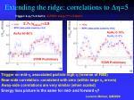 extending the ridge correlations to dh 5