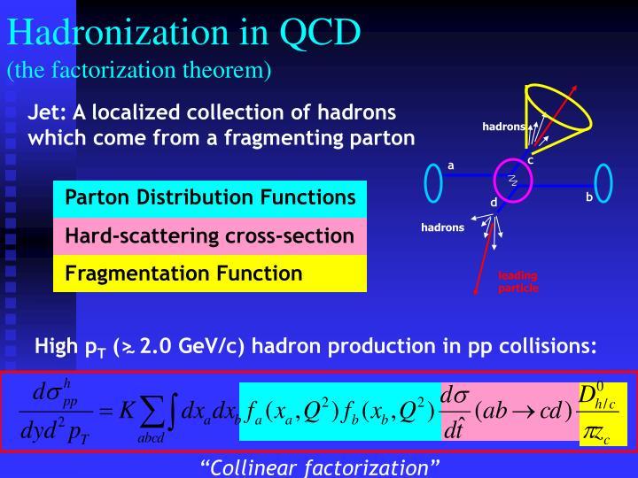 Hadronization in QCD