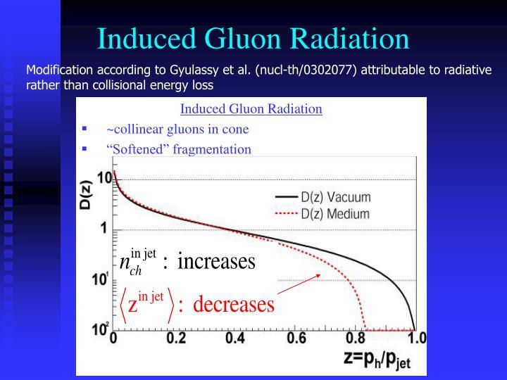 Induced Gluon Radiation