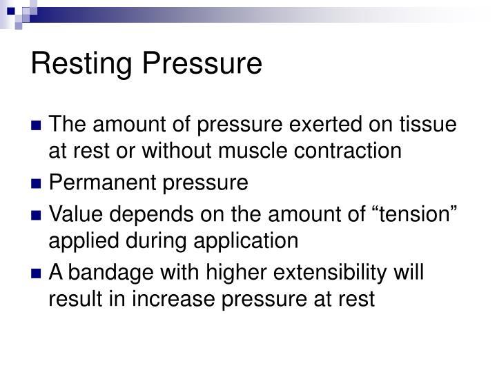 Resting Pressure