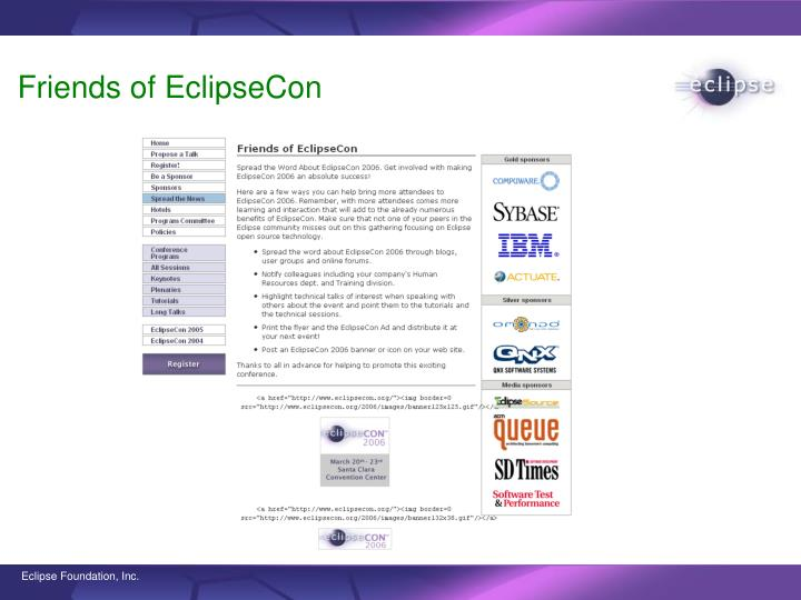 Friends of EclipseCon