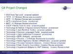 q4 project changes