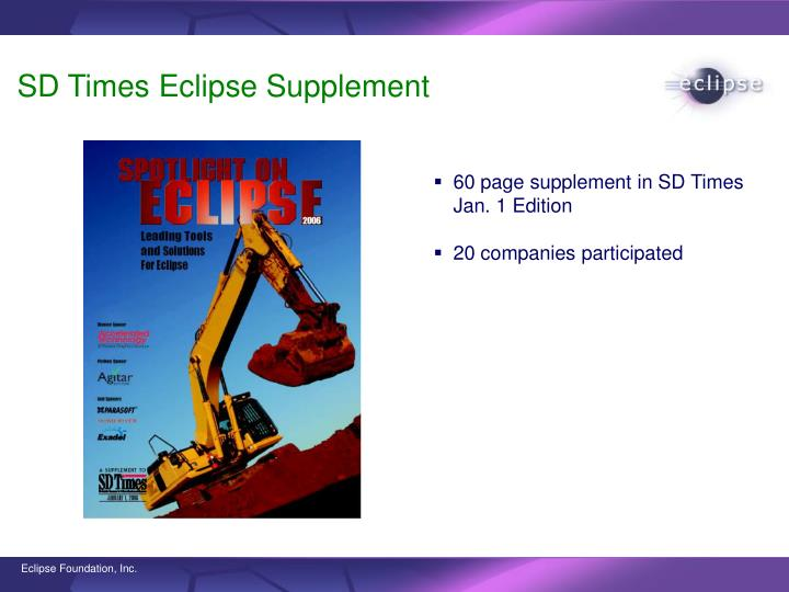 SD Times Eclipse Supplement