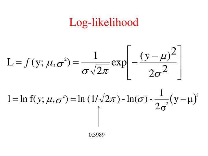 Log-likelihood