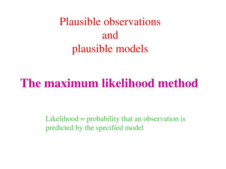 the maximum likelihood method