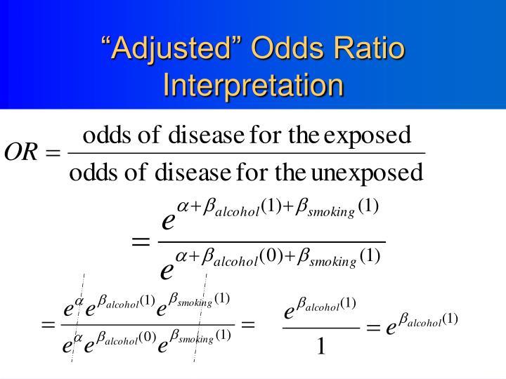 """Adjusted"" Odds Ratio Interpretation"