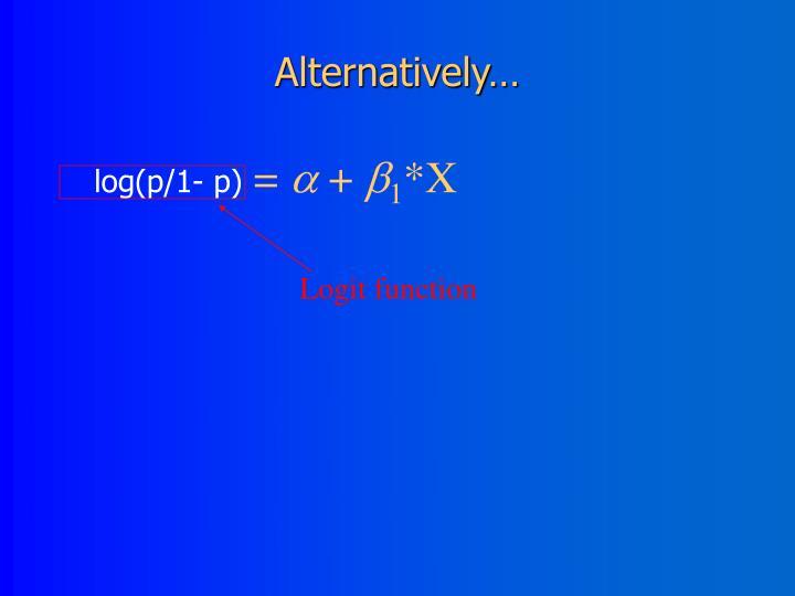 Logit function