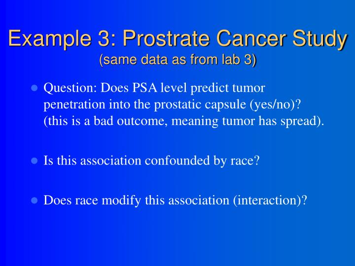 Example 3: Prostrate Cancer Study