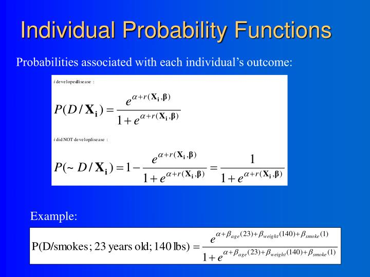 Individual Probability Functions