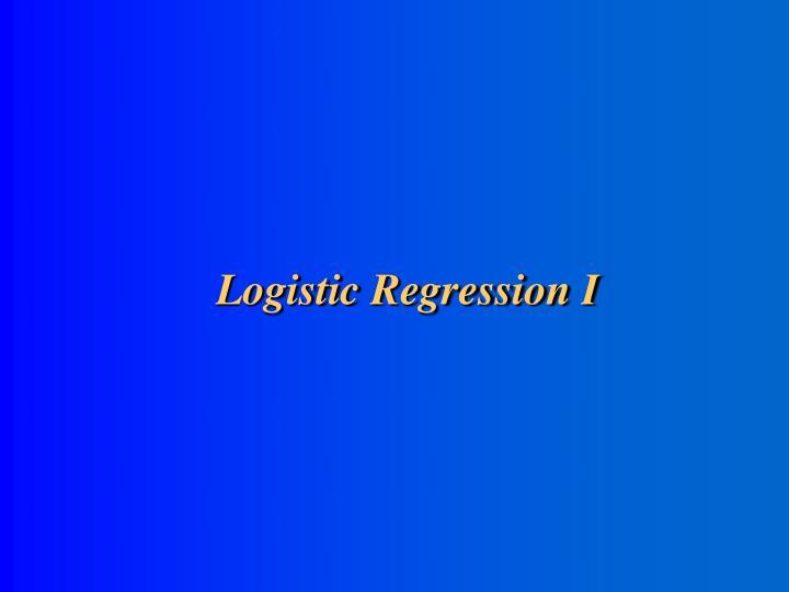 logistic regression i