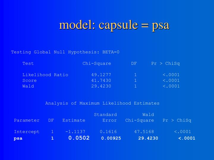 model: capsule = psa