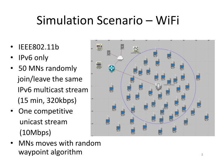 Simulation Scenario – WiFi
