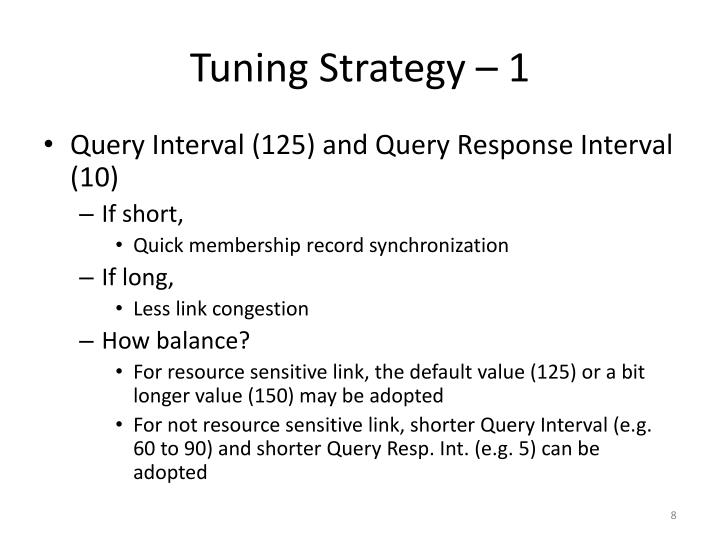 Tuning Strategy – 1