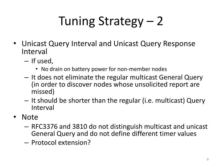 Tuning Strategy – 2