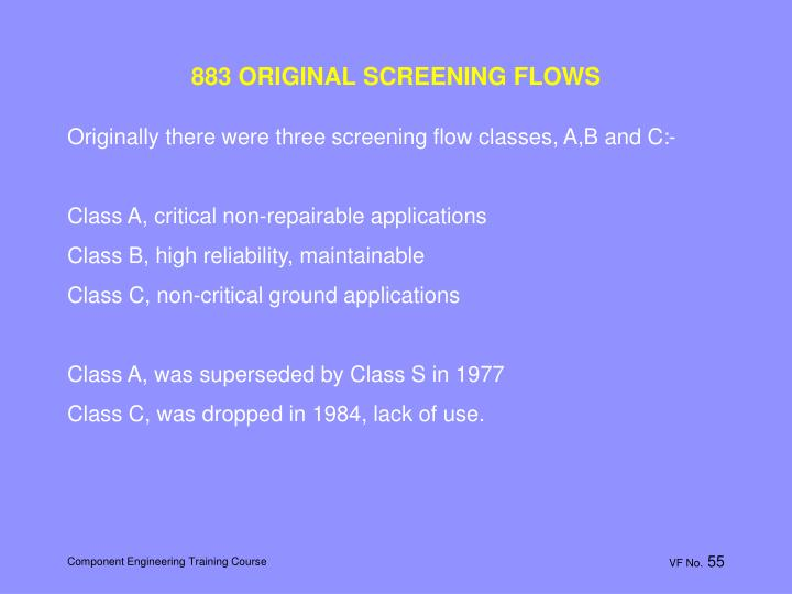 883 ORIGINAL SCREENING FLOWS