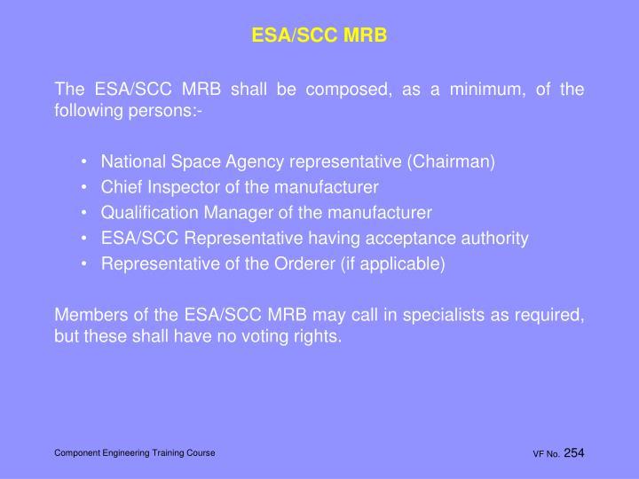 ESA/SCC MRB
