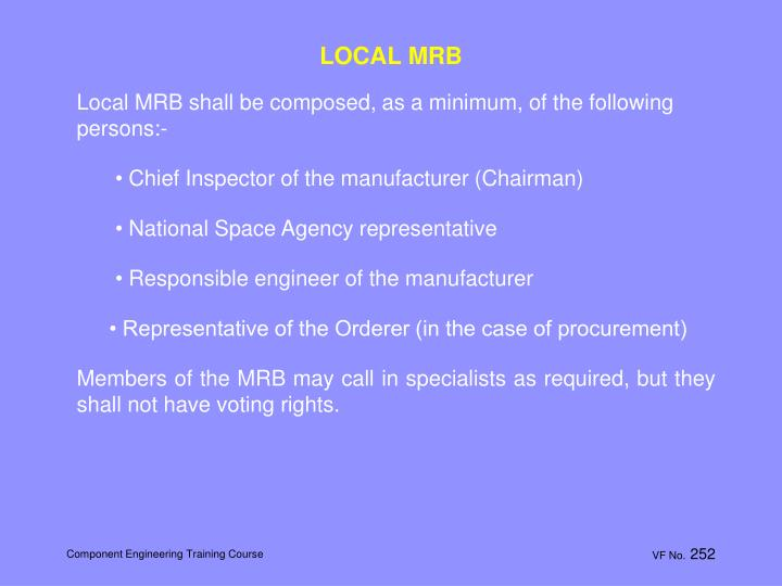 LOCAL MRB