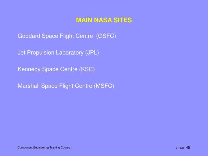 MAIN NASA SITES