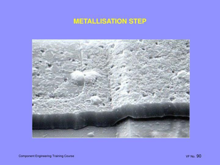 METALLISATION STEP
