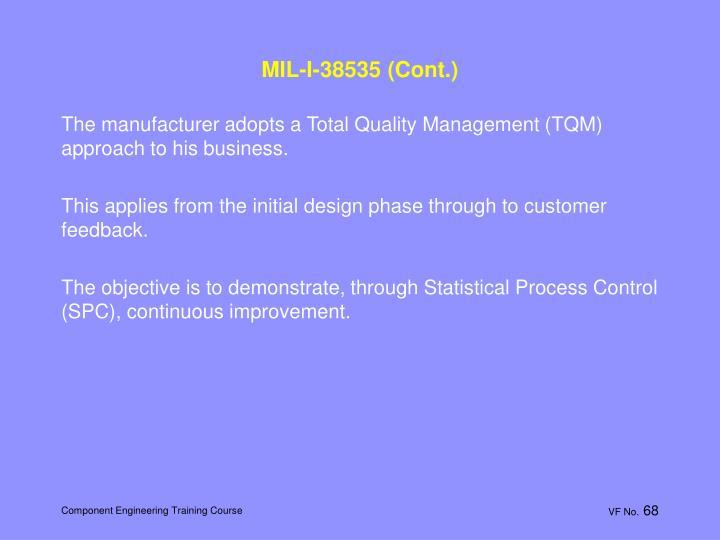 MIL-I-38535 (Cont.)