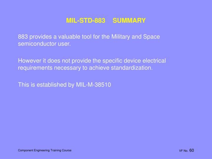 MIL-STD-883    SUMMARY
