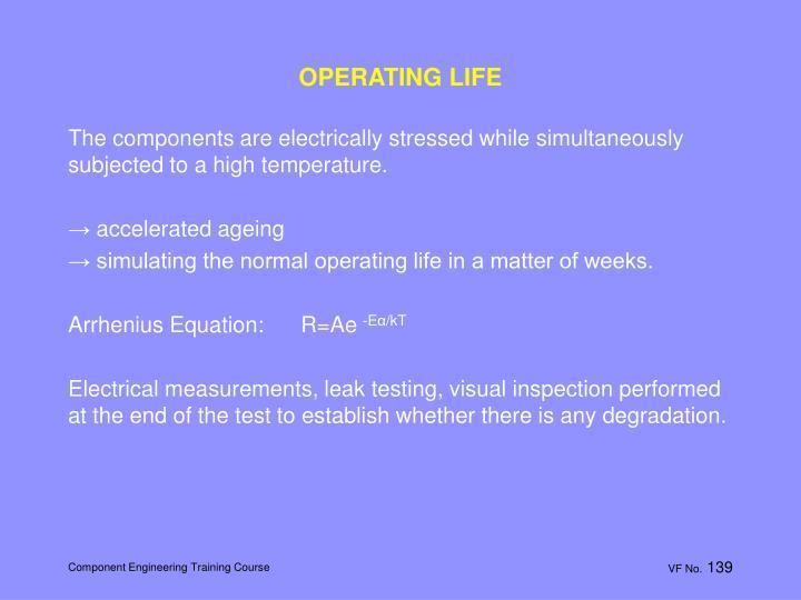 OPERATING LIFE