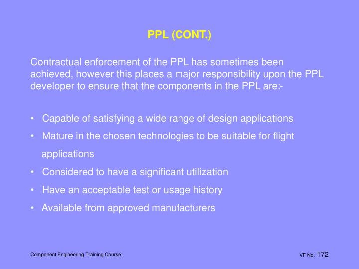 PPL (CONT.)