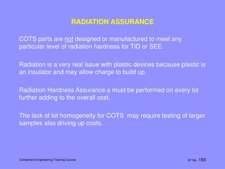 RADIATION ASSURANCE