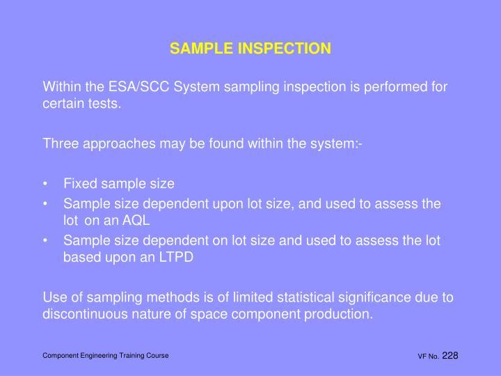 SAMPLE INSPECTION
