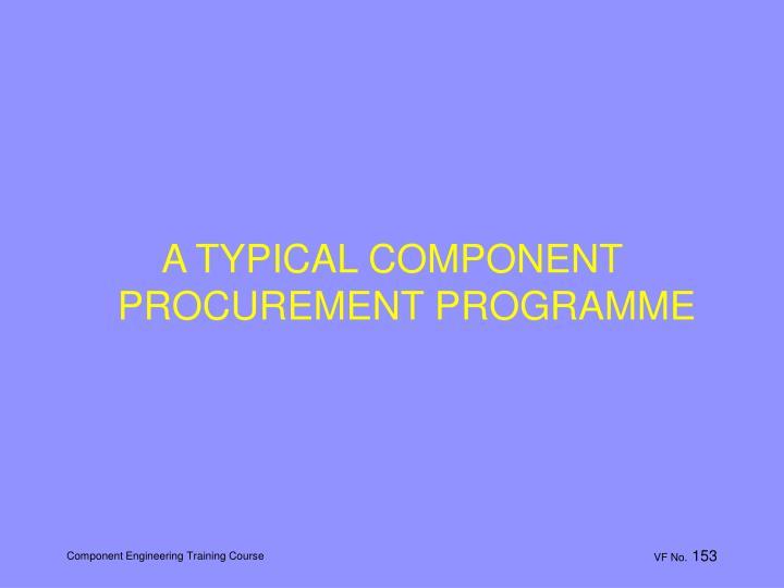 A TYPICAL COMPONENT PROCUREMENT PROGRAMME