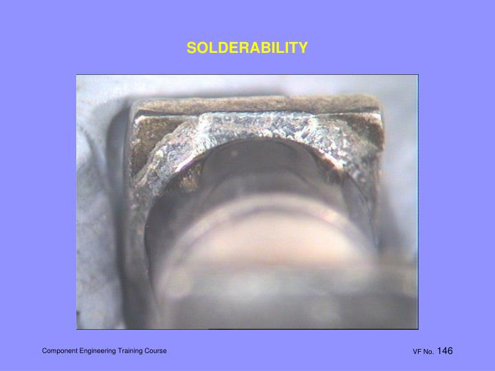 SOLDERABILITY